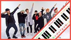 BTS - IDOL Letter Notes Keyboard Noten, Keyboard Piano, Easy Piano, Bts, The Black Keys, Clarinet, Unique Colors, Idol, Lettering