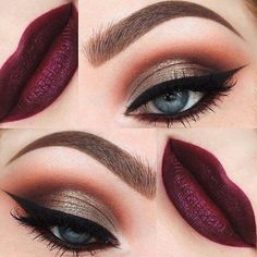 Fantastic autumn makeup look