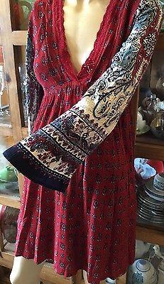 Patrons Of Peace Paisley Printed Boho Dress Size Medium