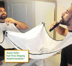 Beard Whiskers Bib Men's Facial Hair Trimmings Catcher Shaving Apron Cloth Cape