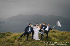 Windy weddings!!!! Still so much fun!! Photography by Alpine Image Company