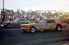 Hubert Platt vs Dick Loehr ~ stretched 1966 Mustang gassers