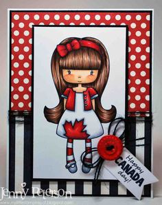 My Little Stampin' Spot: Canadian Girl Happy New Years Eve, Happy Canada Day, Canadian Girls, Cards, Inspiration, People, Biblical Inspiration, Maps, People Illustration