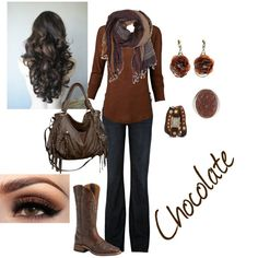 """Chocolate"" by mckala-brook-harper on Polyvore"