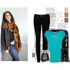 Outfit idea to put together with this great scarf from amberkane.com $250.00