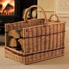 The perfect log basket? On the look out for a basket to sit by the wood-burning stove...