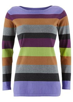 Długi sweter Luźny fason z okrągłym • 89.99 zł • Bon prix