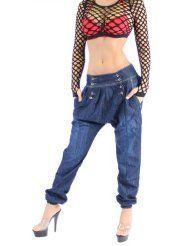 Aladin Harem Pump Jeans Blau Boyfriend Dunkelblau XS 34 - XL 42
