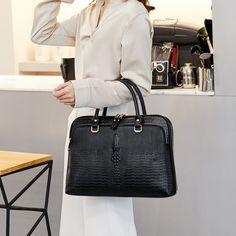 2019 Womens Business Briefcase Bag Woman Leather Laptop 14 Inch Handbag Work Office Bag Ladies Crossbody Bags For Women Handbags Office Bags For Women, Laptop Bag For Women, Office Ladies, Laptop Bags, Leather Laptop Bag, Leather Briefcase, Leather Shoulder Bag, Women's Briefcase, Shoulder Bags