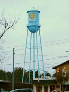 Alabama's offbeat water towers: Butler's smiley-face