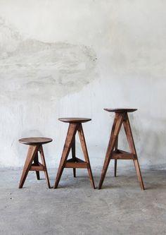 -by Take Home Design- 'piece round stool & bar stool' Nachhaltiges Design, Wood Design, Chair Design, House Design, Interior Design, Wooden Furniture, Cool Furniture, Furniture Design, Furniture Direct