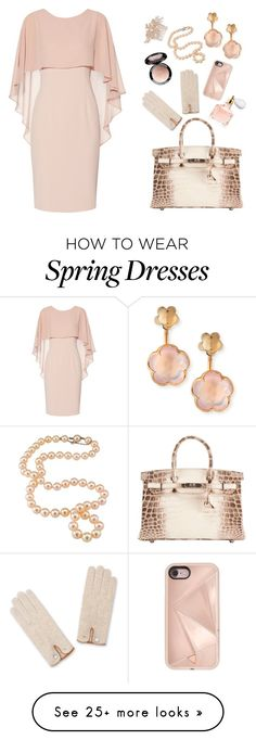 """""""Pink Spring"""" by aster-rubidus on Polyvore featuring Gina Bacconi, Hermès, Pasquale Bruni, Guerlain, Dita Von Teese, Rebecca Minkoff and Nina"""