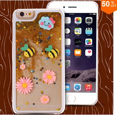Dynamic Quicksand Bling Star iPhone 6S Cases Lovely Cartoon SWEET Fish  Cases For Iphone 5/5S/6/6s plus Phone Case