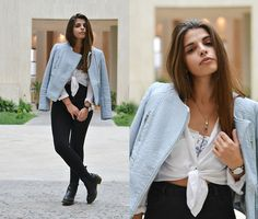 Wildfox Bralette, Pull & Bear Shirt, Pull & Bear Jeans, Lovely Breeze Necklace, Daniel Wellington Watch, Dr. Martens Boots