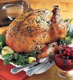 roasted turkey with apple cider gravy
