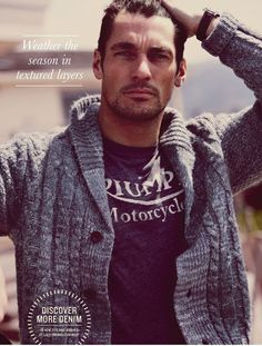 Fall/Winter 2012 Lucky Brand catalog  Model: David Gandy
