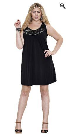 Zhenzi - Tunika kjole u/ ærmer og - Black