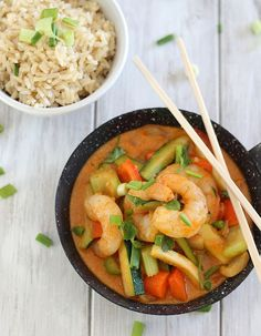 Make-Ahead Curried Coconut Quinoa with Shrimp and Basil | Recipe ...