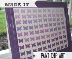 Paint Chip Art- ADORABLE