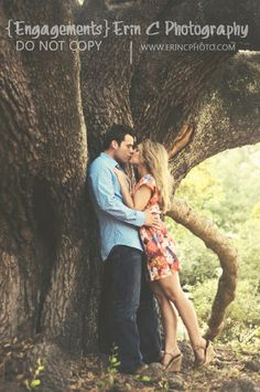 Kissing under the tree! #Engagement