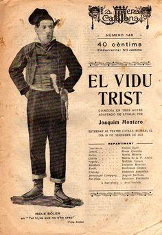 El vidu trist - Joaquim Montero -LA ESCENA CATALANA nº 145 - 12.01.1923