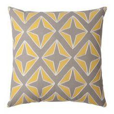 "Room Essentials® Applique Diamond Toss Pillow - Yellow/Gray (18x18"")  $17"