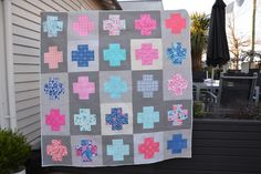 Paradiso by Kate Spain cross quilt