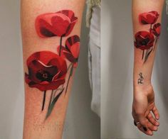 Arm Flower Tattoo by Sasha Unisex