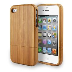 iPhone 4S Case, Stylish Hard Bamboo 2 Piece Cover - $9.99