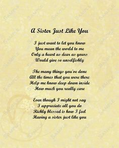 Sister Poems That Make You Cry  BigSisterPoemsThatMakeYou