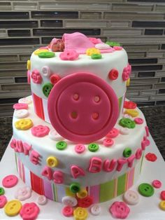 Cute as a Button — Baby Shower