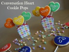 Conversation Heart Cookie Pops - fall in love with the delicious and fun to make treats!