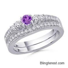 Round #Amethyst and #Diamond #Ring SD_SR0228AM  #Jewelry http://blingterest.com/rings/diamond-rings/round-amethyst-and-diamond-ring-sd_sr0228am-sd_sr0228am-jewelry/