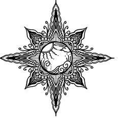Summer sun sand beach tattoo mandala