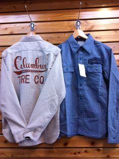 Pherrow's(ふぇろーず)ワークシャツ ワッペンと刺繍、ベースのシャツまでかっこいい〜今季イチオシ商品デス♪ 価格¥17,640-