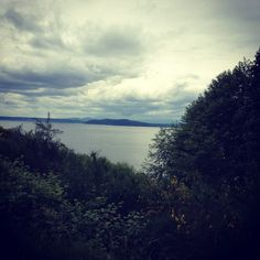 June 3rd, 2012: Looking out to Puget Sound while door belling the homes on hills above Alki Beach