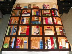Bookcase quilt using Fandom In Stitches patterns.