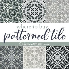 Patterned tile is trending in a big way, and I'm showing you the best places to buy patterned tile online for the best prices. Patterned tile is trending in a big way, and I'm showing you the best places to buy patterned tile online for the best prices. Bathroom Tile Designs, Bathroom Floor Tiles, Bathroom Layout, Bathroom Ideas, Modern Bathroom, Bathroom Vanities, Master Bathroom, Japanese Bathroom, Master Baths