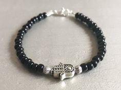 Hamsa hand bracelet,friendship bracelet,gift for bestfriend,gift for her,women bracelets,yoga bracelet,charm bracelet,boho jewelry,hamsa. by iuaccessories on Etsy