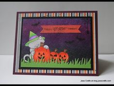 This video shows a Halloween card with masking and a Distress Ink background. Please see below for product information. Newton's Nook Designs Newton's Perfec...