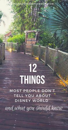 Things most people don't tell you about Walt Disney world and what you should know. #disneytips #waltdisneyworld #disneyvacations