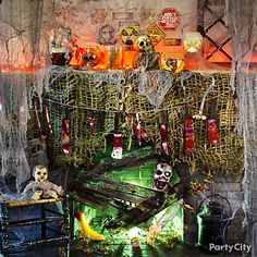 Did the zombies move on or are they coming back for dinner? Party City has all this creepy stuff – haunted dolls, signs & body parts. Prepare for the apocalypse!