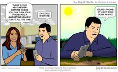 Childhood pastime thwarted!  #iphone #apple #humor #joyoftech  via Joy of Tech | http://mte.gs/XPv6S