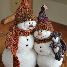 *Felted Snowpeople (by Teresa Perleberg)