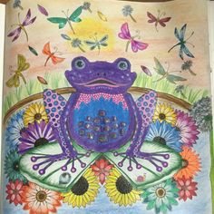 My first page colouring johanna basford frog