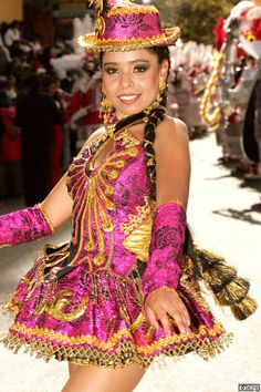Folklore dance costume Bolivia - www.dreamtimecreations.com