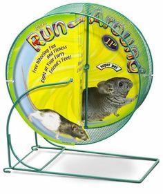 Super Pet Run-Around Wheel Giant 11in Diameter Free Wheeling Fun Chinchillas Rat