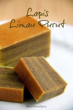 I baked Lapis Limau Purut for Hari Raya Haji about a month ago. I did not plan to bake any lapis cake at first, but since I was baking for . Layer Cake Recipes, Dessert Recipes, Layer Cakes, Thousand Layer Cake, Cake Cookies, Cupcake Cakes, Bolu Cake, Malaysian Dessert, Malaysian Food