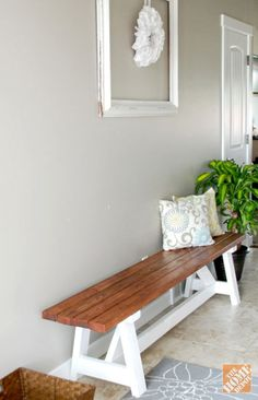 Diy Project: Farmhouse Bench - The Home Depot
