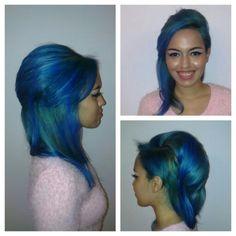 #hair #cabello #dyed #blue #azul #hairdresser #hairstylist #peluquero #estilista #axel04 #axel @xmarlysx